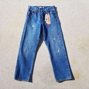 NEW Levis WEDGIE STRIAGHT Blue jeans sz 26
